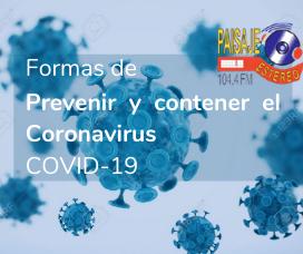 PREVENCIÓN Y CONTENCIÓN DEL COVID-19